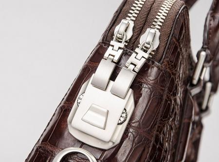 Business Mens Crocodile Leather Briefcase Bag Handbag Laptop Shoulder Bag-Password Lock