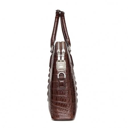 Business Mens Crocodile Leather Briefcase Bag Handbag Laptop Shoulder Bag-Side