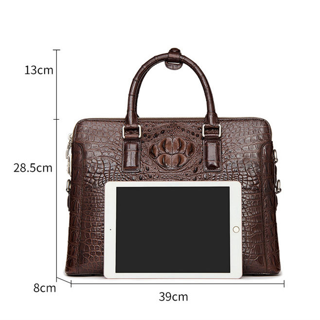 Business Mens Crocodile Leather Briefcase Bag Handbag Laptop