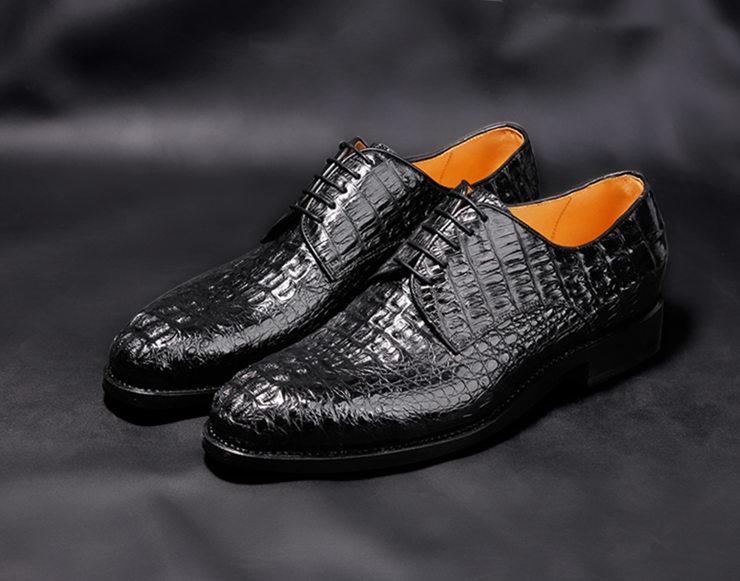 Crocodile and alligator leather shoes
