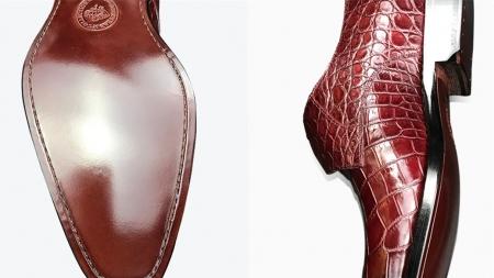 Formal Business Comfortable Alligator Skin Single Monk Strap Shoes For Men-Sole