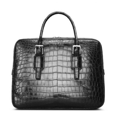 Mens Alligator Leather Business Work Briefcase Laptop Bag