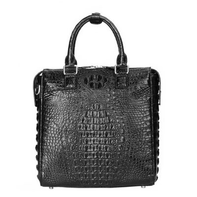 Modern Men's Crocodile Leather Briefcase Business Laptop Bags
