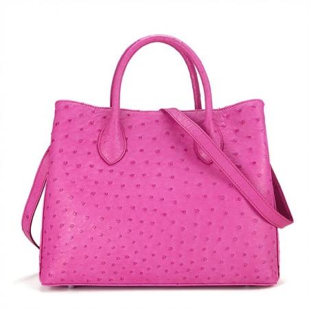 Ostrich Handbag Shoulder Bag Tote Purse