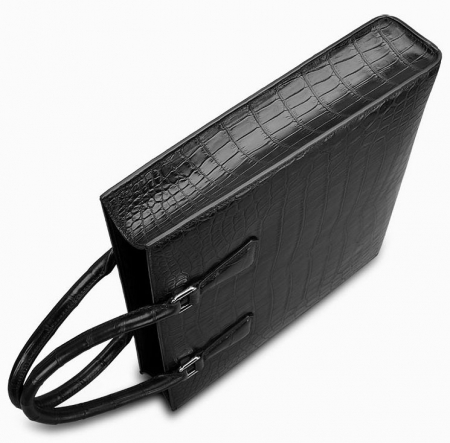 Unisex Alligator Briefcase Laptop Bag Business Tote-1