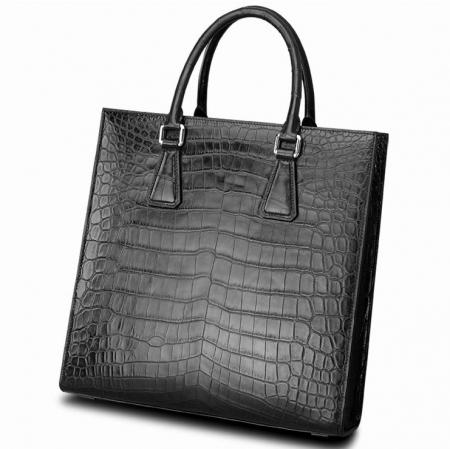 Unisex Alligator Briefcase Laptop Bag Business Tote-Display