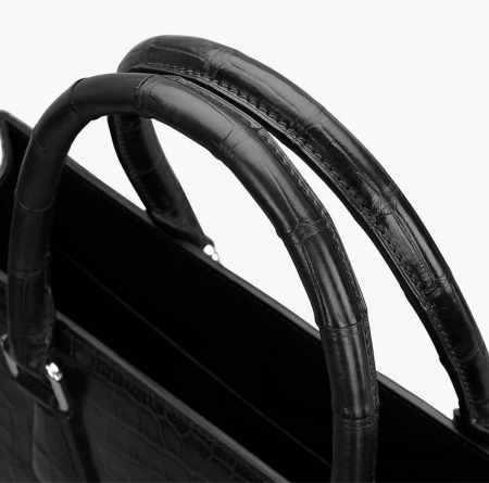 Unisex Alligator Briefcase Laptop Bag Business Tote-Handle