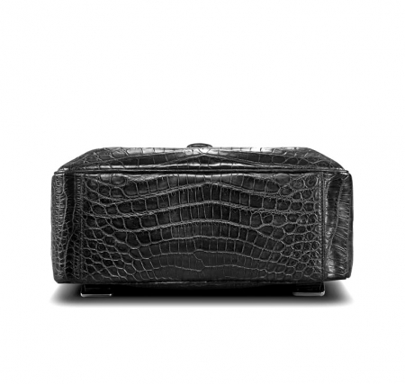Alligator Leather Backpack Stylish Alligator Travel Bag-Bottom