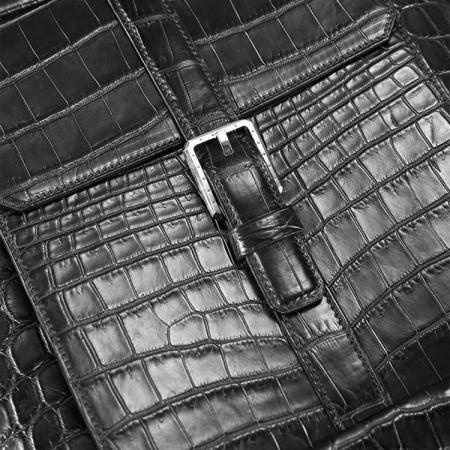 Alligator Leather Backpack Stylish Alligator Travel Bag-Details