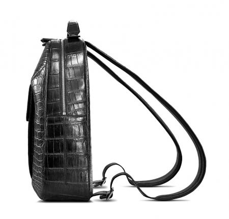 Alligator Leather Backpack Stylish Alligator Travel Bag-Side