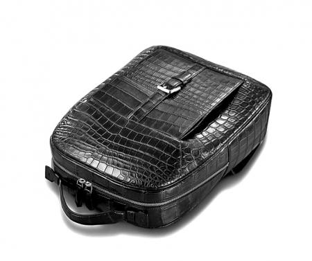 Alligator Leather Backpack Stylish Alligator Travel Bag-Top
