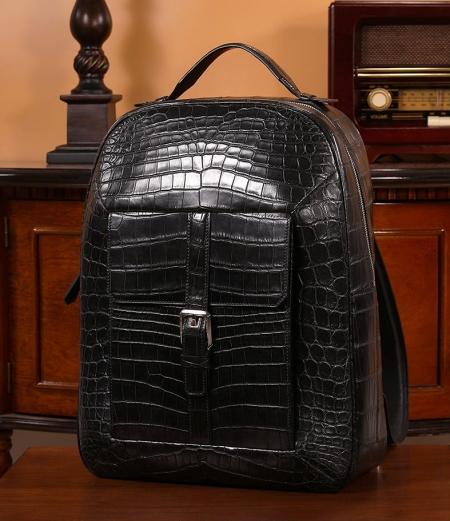 Alligator Leather Backpack Travel Bag