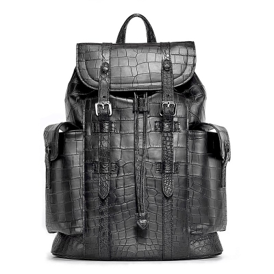 Alligator Skin Backpack Shoulder Bag Travel Bag