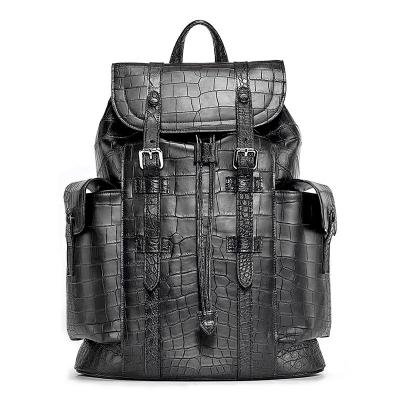 Alligator Skin Backpack Shoulder Bag Travel Bag