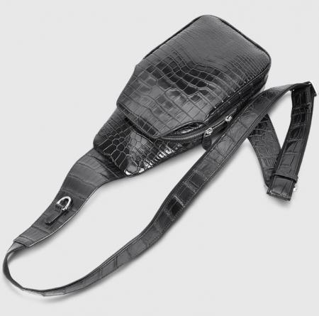 Alligator Skin Bag Outdoor Chest Pack Shoulder Backpack-Details