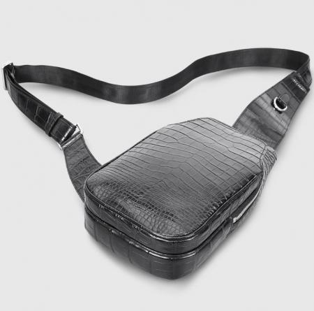 Alligator Skin Bag Outdoor Chest Pack Shoulder Backpack-Display