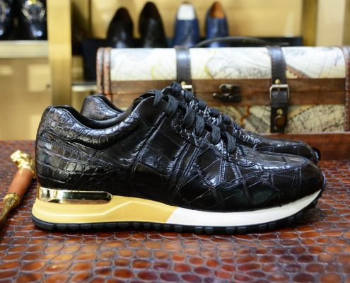 Alligator Skin Sneakers for Men