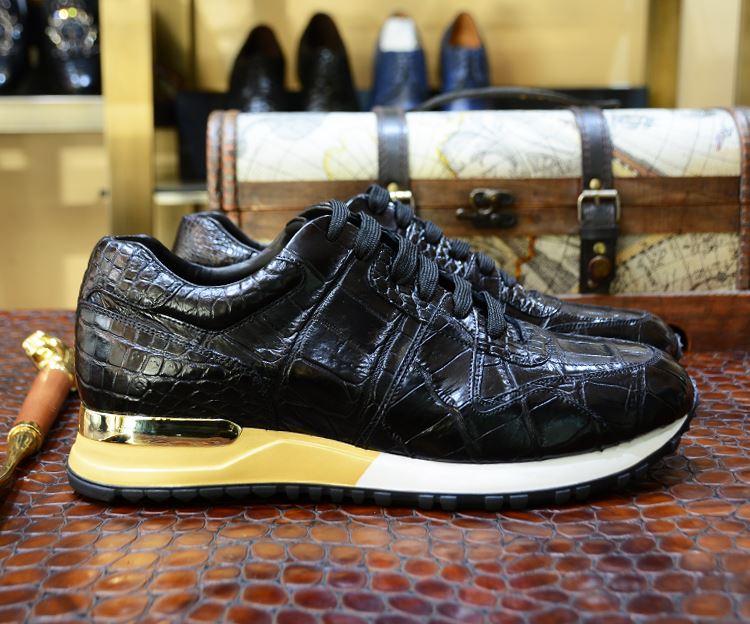Alligator Skin Sneakers for Men