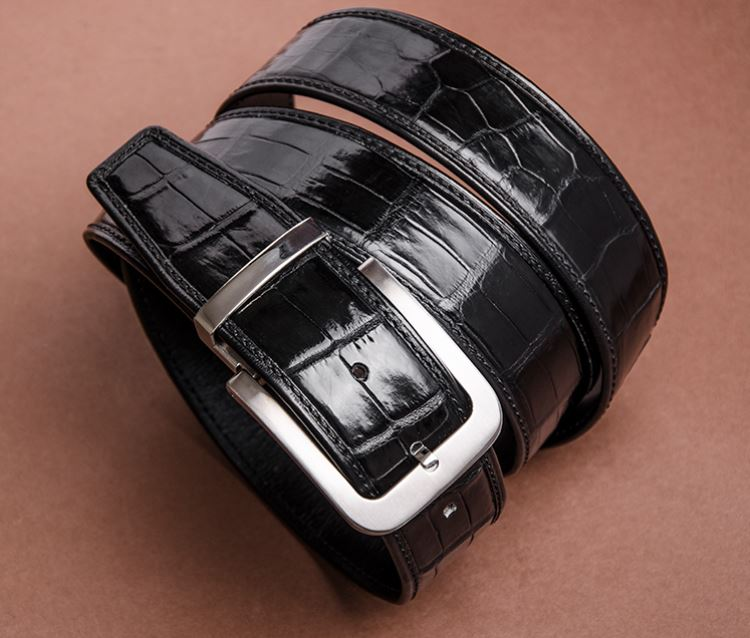 American Alligator Leather Belt