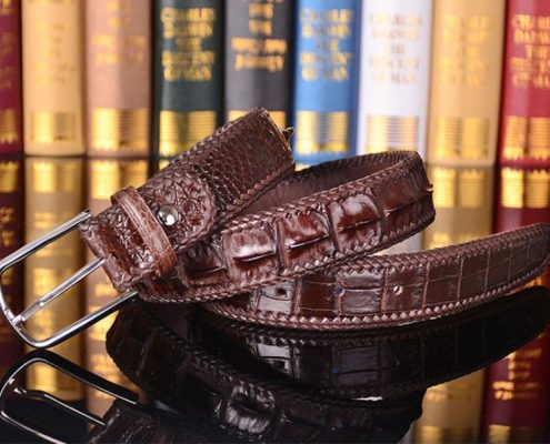 American Alligator Skin Belt