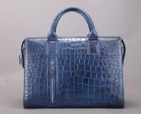 BRUCEGAO alligator briefcase Top luxury mens briefcase brand