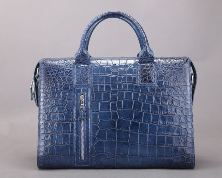 BRUCEGAO alligator briefcase Top luxury mens briefcase brand