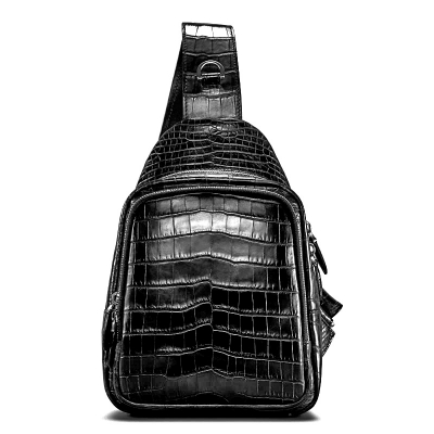 Casual Alligator Leather Shoulder Sling Backpack Bag