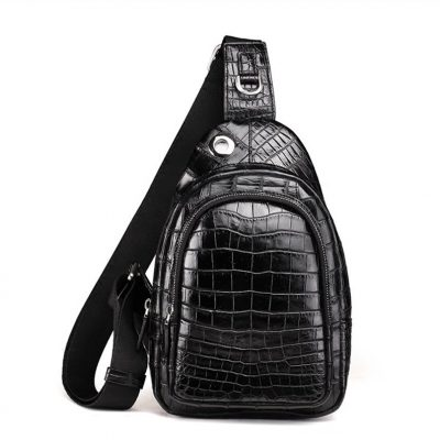 Casual Travel Alligator Leather Shoulder Sling Backpack Bag