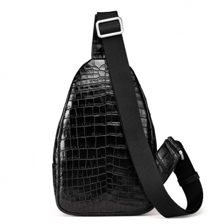 Casual Travel Alligator Leather Shoulder Sling Backpack Bag-Back