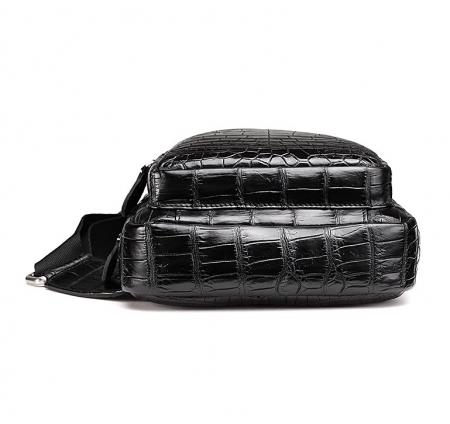 Casual Travel Alligator Leather Shoulder Sling Backpack Bag-Bottom