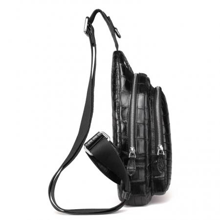 Casual Travel Alligator Leather Shoulder Sling Backpack Bag-Side