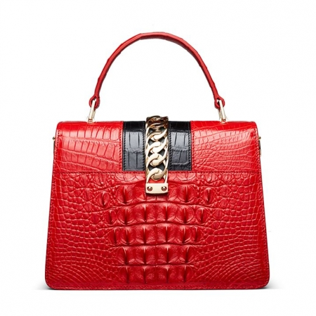 Crocodile Handbags Purses Shoulder Bags for Women-Back