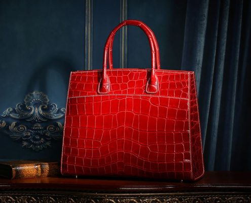 Exotic Leather Handbag-Alligator Leather