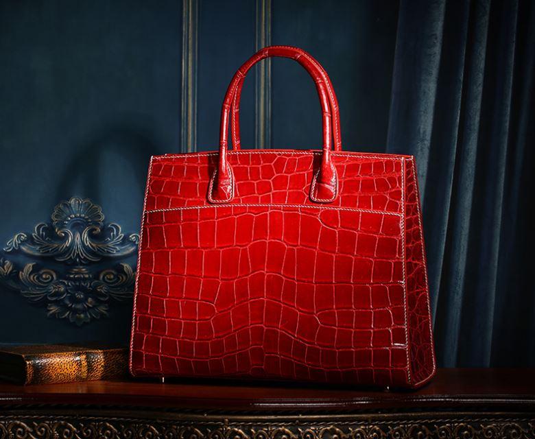 Exotic Leather Handbag-Alligator Leather