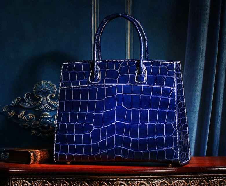 Exotic Leather Handbag-Genuine Alligator Leather Handbag