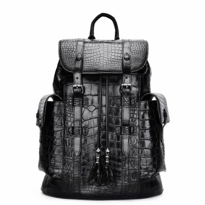 Handcrafted Alligator Skin Backpack Shoulder Bags Travel Bags