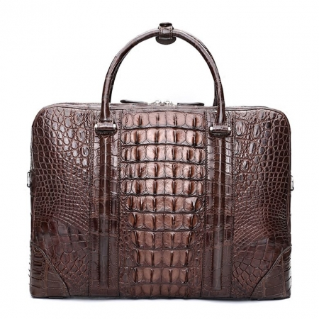 Handmade Classic Crocodile Leather Briefcase Laptop Bag Business Bag-Back