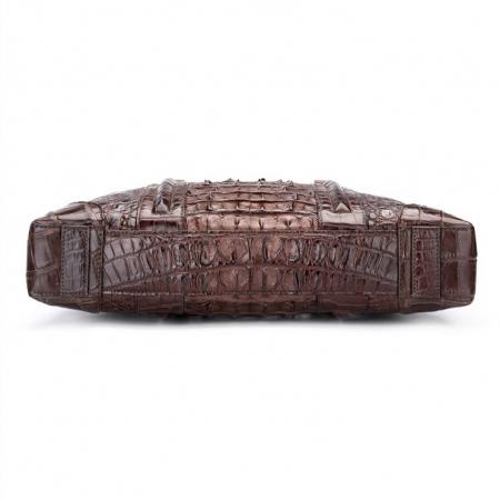 Handmade Classic Crocodile Leather Briefcase Laptop Bag Business Bag-Bottom