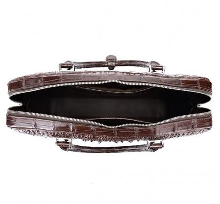 Handmade Classic Crocodile Leather Briefcase Laptop Bag Business Bag-Inside