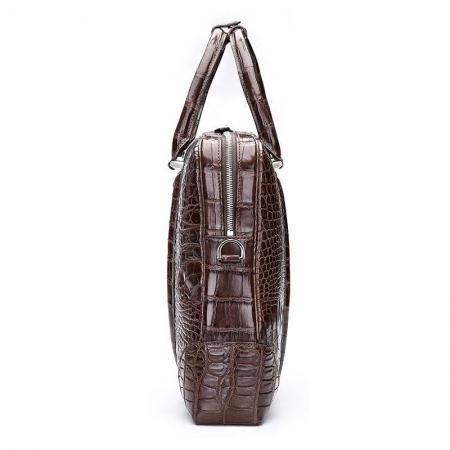 Handmade Classic Crocodile Leather Briefcase Laptop Bag Business Bag-Side