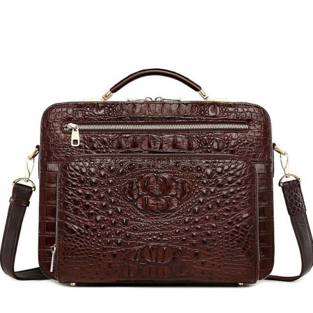 Handmade Crocodile Leather Briefcase Messenger Laptop Bag