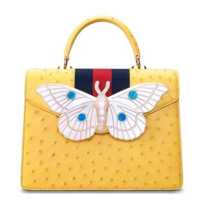 Luxury Genuine Ostrich Leather Handbag Crossbody Bag