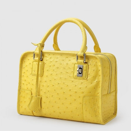Ostrich Leather Satchel Ostrich Leather Handbags