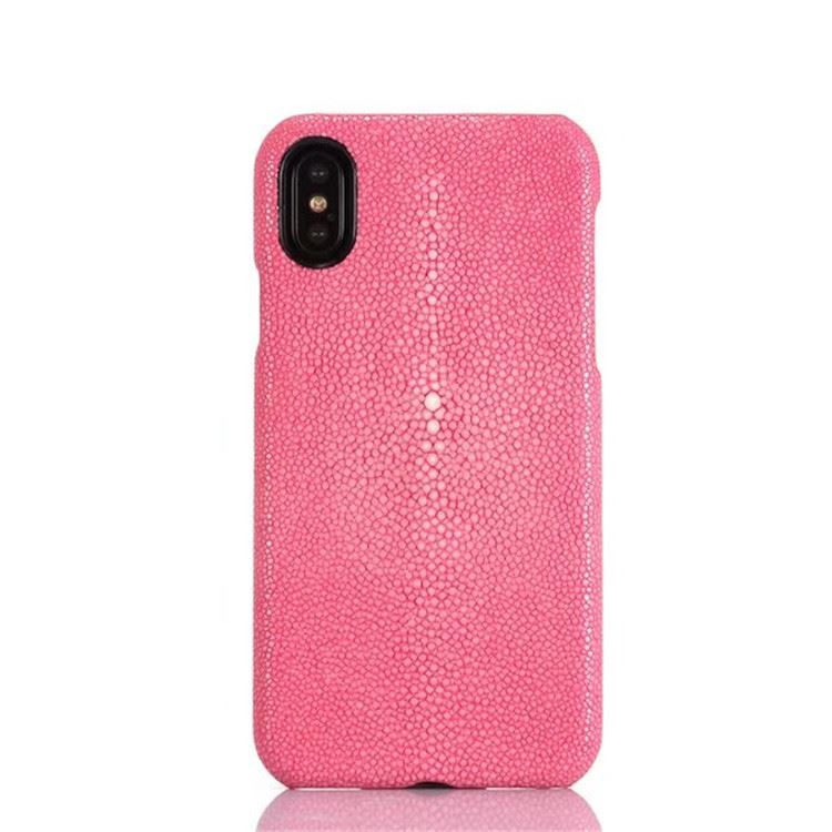 Polished Stingray Skin iPhone X Case-Pink