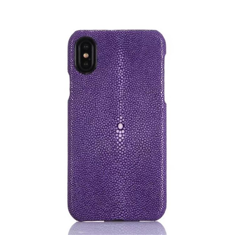 Polished Stingray Skin iPhone X Case-Purple