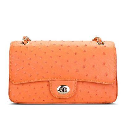 Stylish Ostrich Leather Purse Crossbody Shoulder Bag