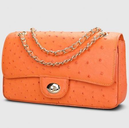 Stylish Ostrich Leather Purse Crossbody Shoulder Bag-Display