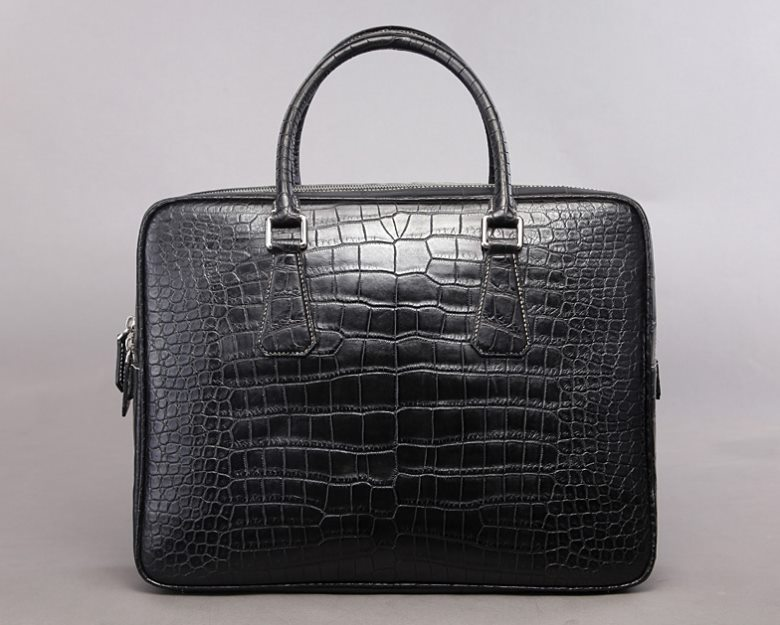 Top luxury men's briefcase brand-BRUCEGAO alligator briefcase