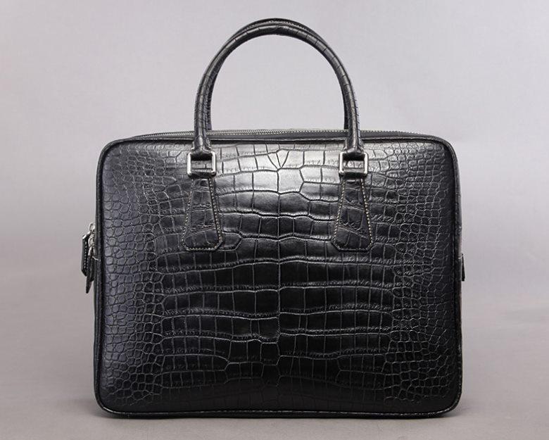 Top luxury men's briefcase brand-BRUCEGAO alligator briefcase