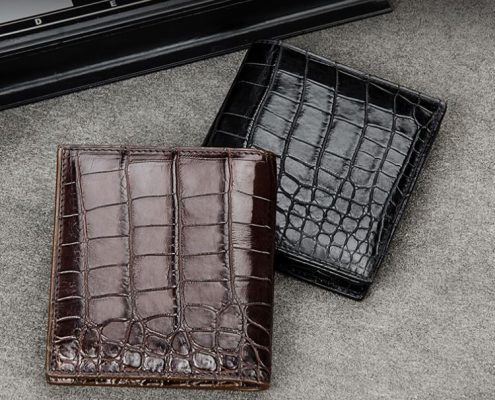 Top luxury men's wallet brand-BRUCEGAO alligator wallets